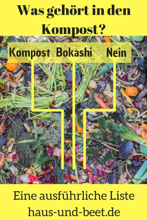 Was gehört in den Kompost und in den Bokashi Eimer? – Haus und Beet