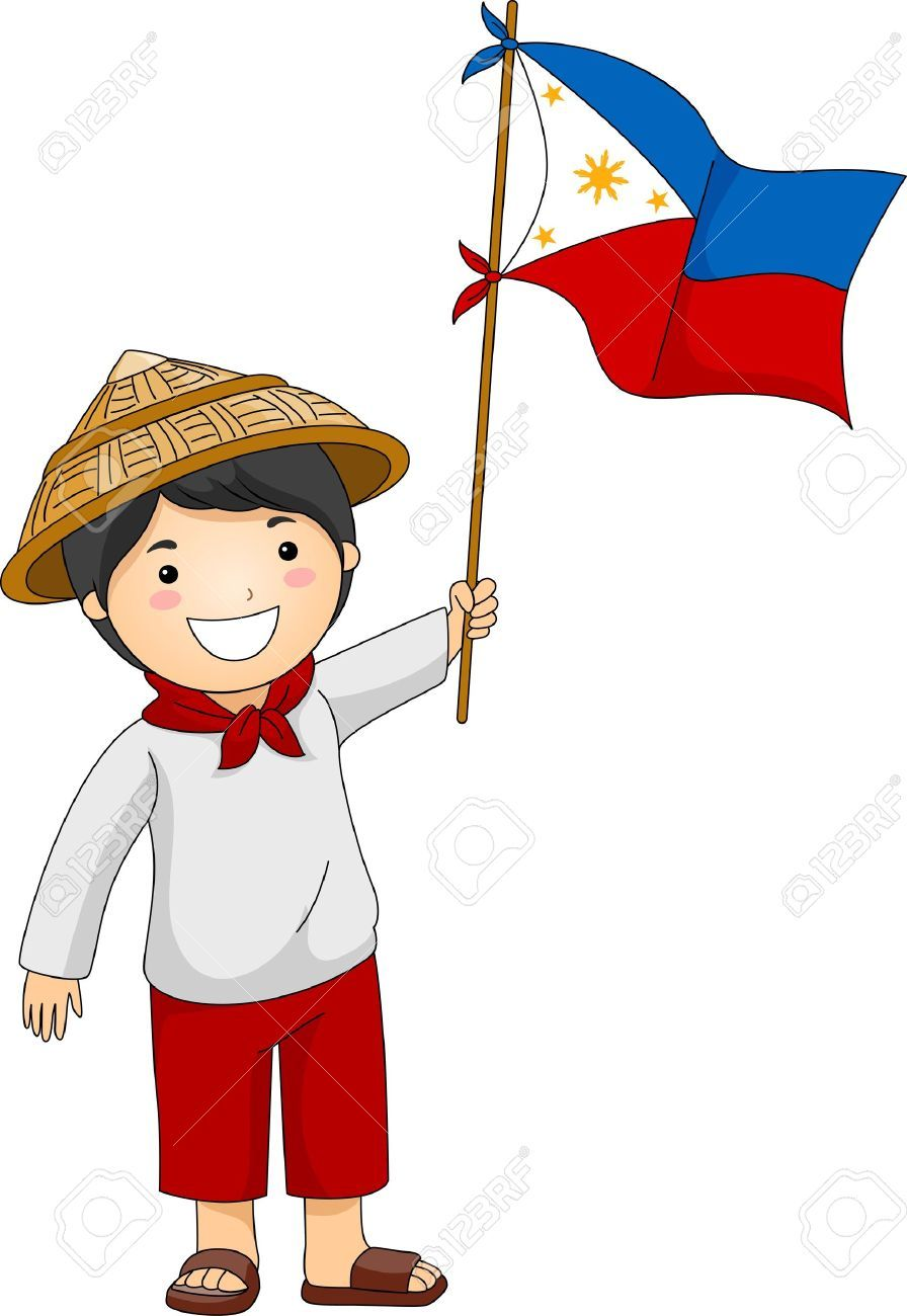 Illustration Of A Filipino Kid Holding The Philippine Flag Stock Photo Picture And Royalty Free Image Philippine Flag Philippine Flag Wallpaper Flag Drawing