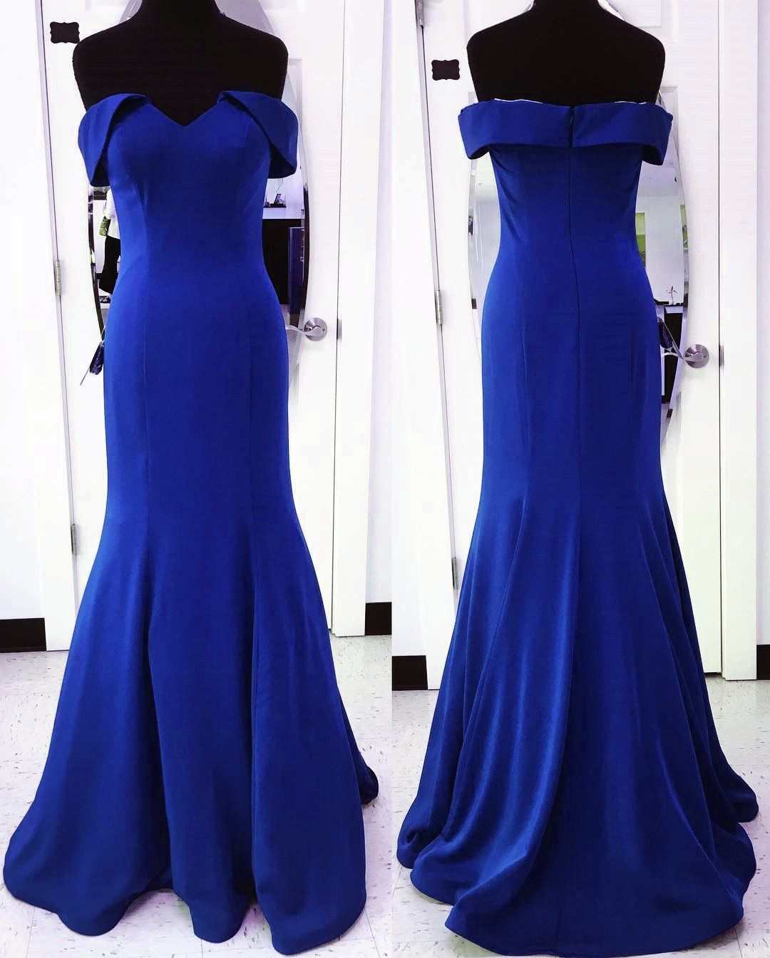 Sexy long jersey sweetheart mermaid prom dresses off the shoulder