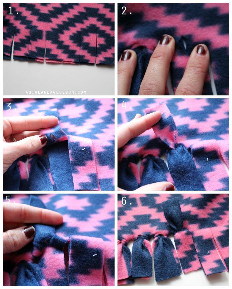 Pin by Linda Greer on misc Fleece blanket edging, No sew