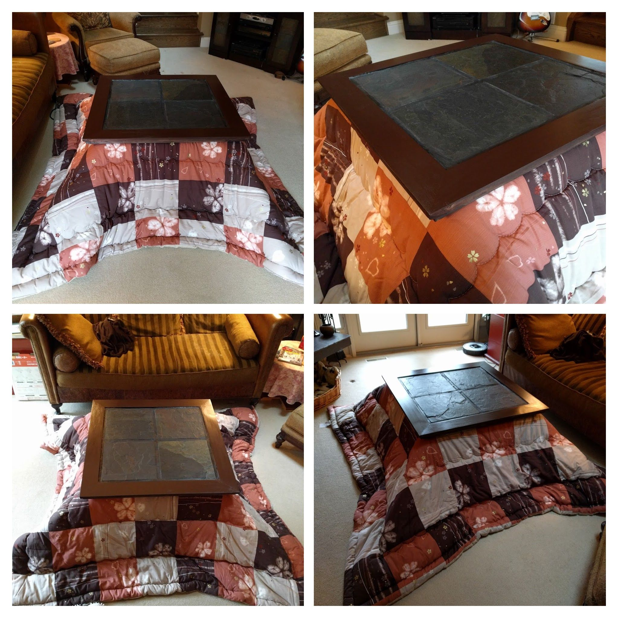 Kotatsu Table With Stone Tiles To Match Existing Furniture. Butcher  ShopFurnitureCommentStonesDiy ...