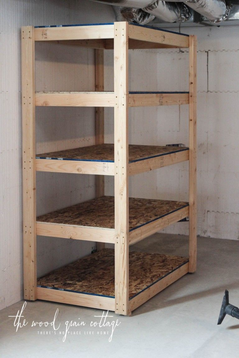Diy Basement Shelving Rangement Outil Garage Rangement Jardin