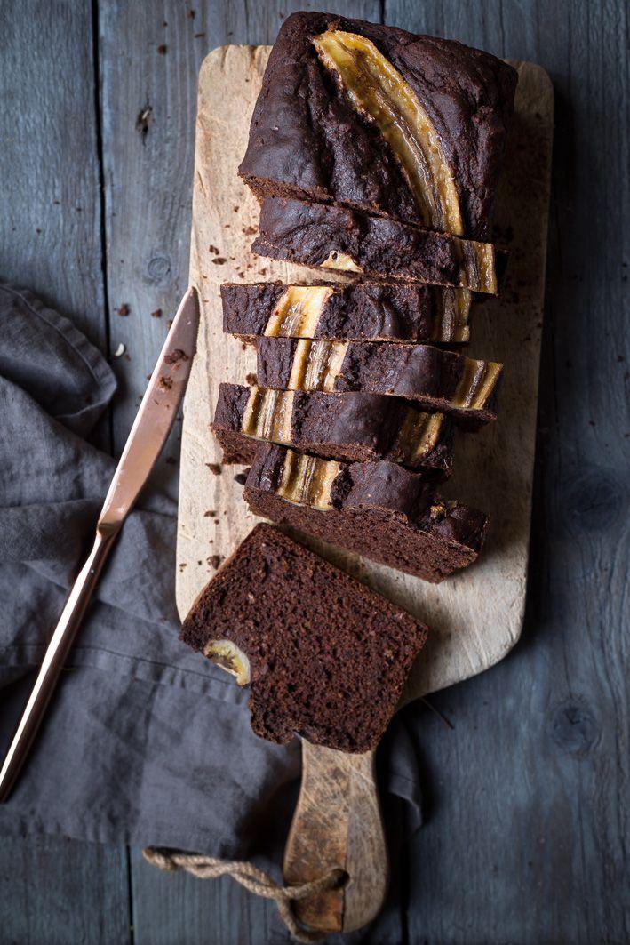 Saftiges Schokoladen-Bananenbrot #bananabread