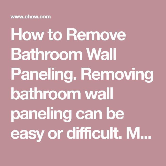 How to Remove Paneling Glue From Plaster | Plaster material, Plaster walls, Bathroom wall