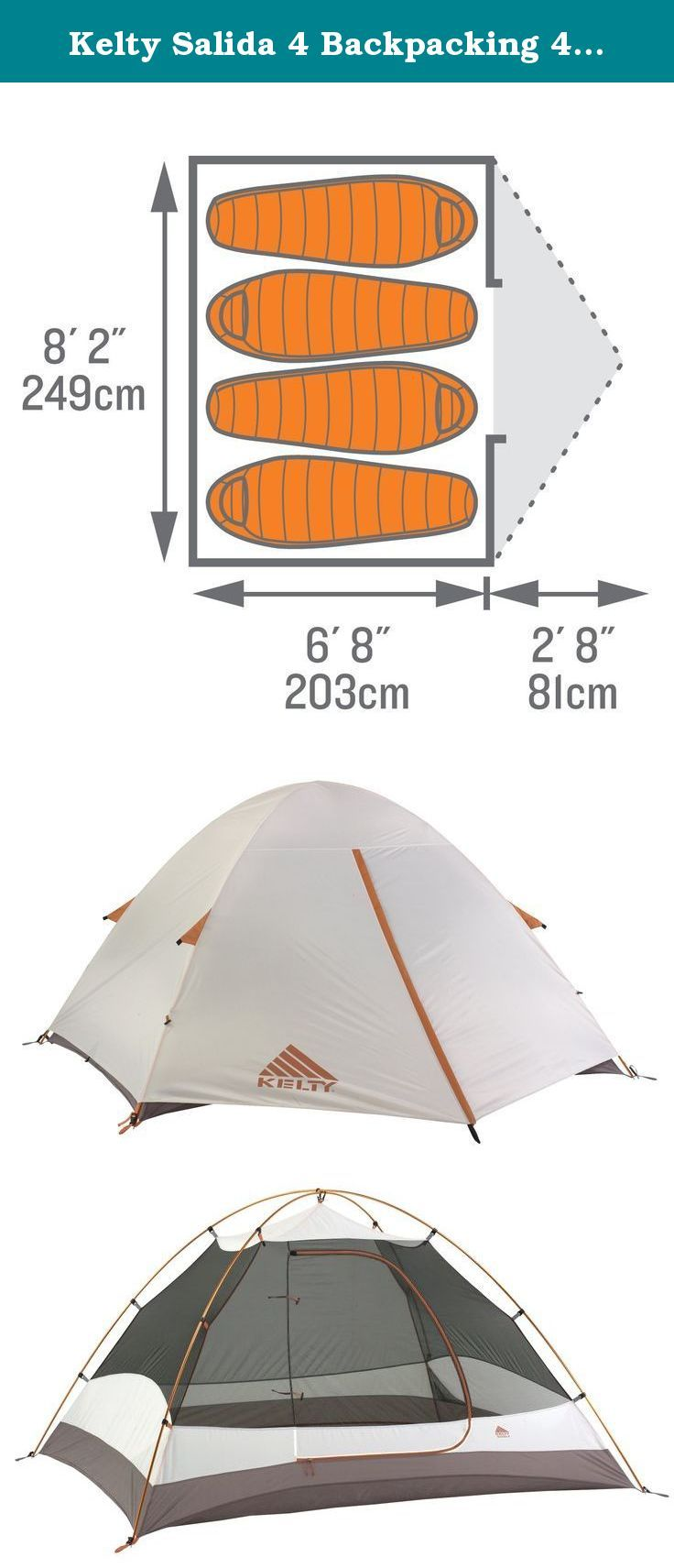 Kelty Salida 4 Backpacking 4 Person Tent. Designed for 3-season use the  sc 1 st  Pinterest & Kelty Salida 4 Backpacking 4 Person Tent. Designed for 3-season ...