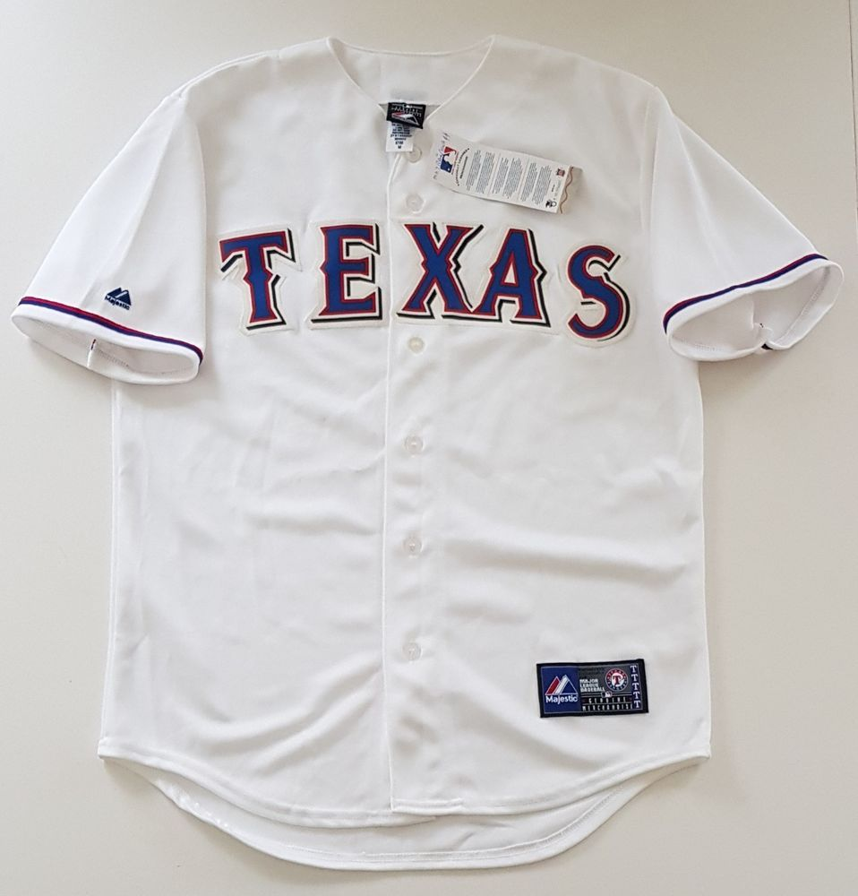 the latest f3cce edee1 MAJESTIC TEXAS RANGERS Official MLB Baseball Jersey Shirt ...