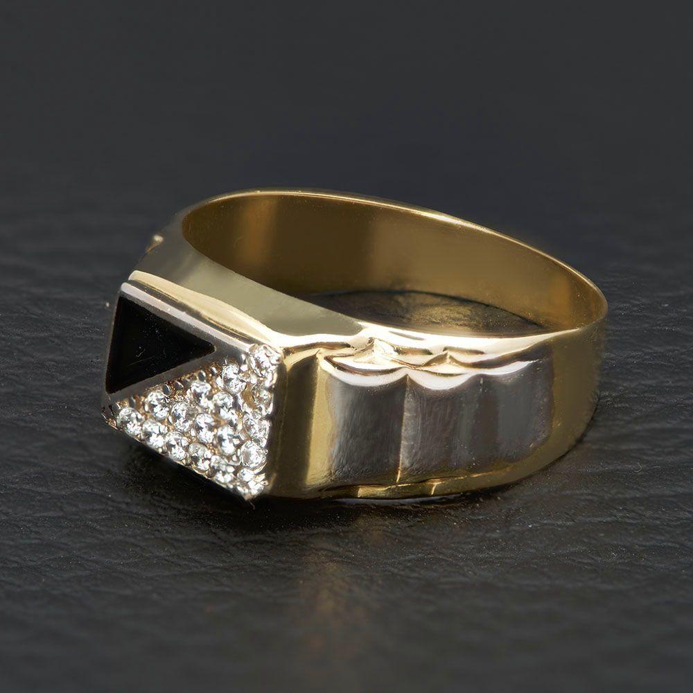Χρυσό ανδρικό δαχτυλίδι Κ14 ec65f24416c