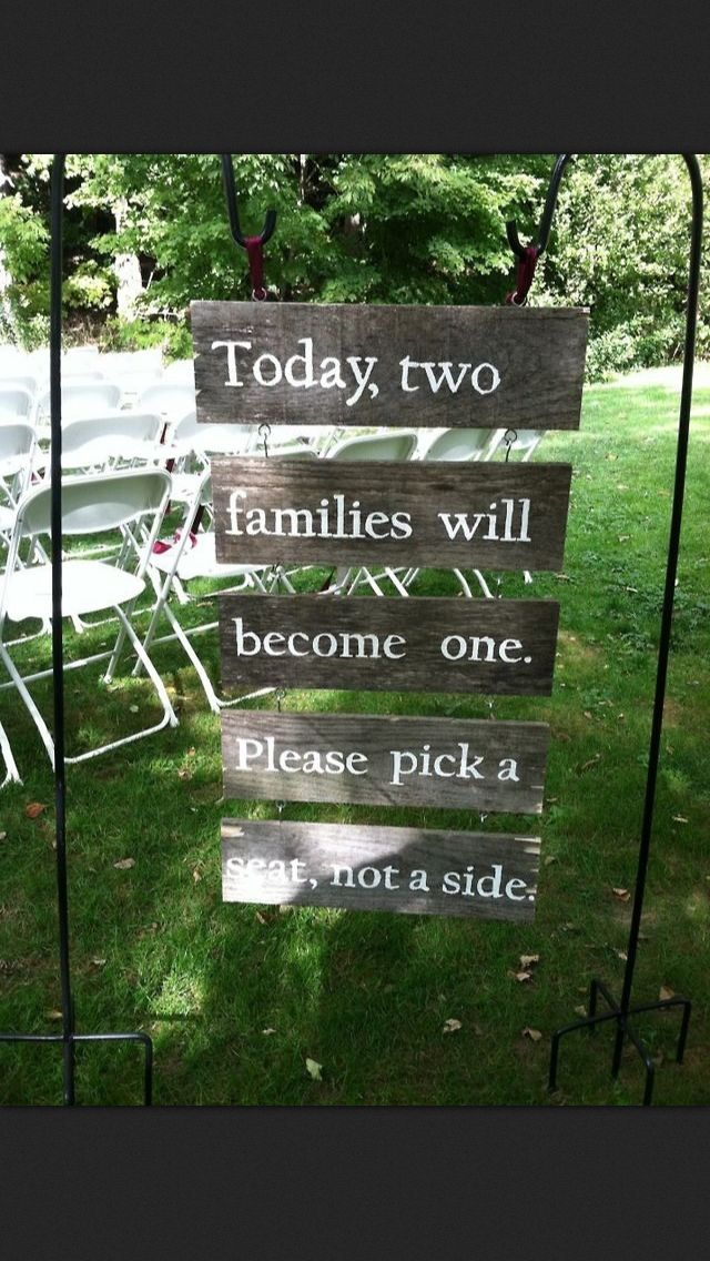 perfect sign for wedding!!