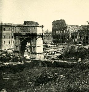 Italy Roma Coliseum Colosseum Old NPG Stereo Photo Stereoview 1900