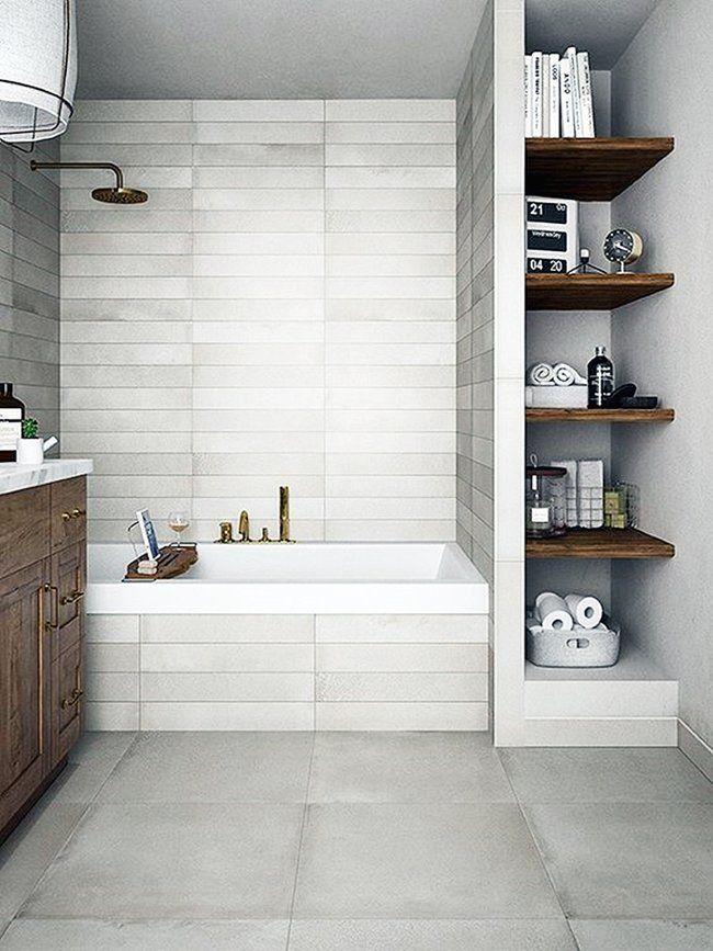 Компактные решения для крошечной ванной: 20 замечательных идей | Небольшие ванные комнаты, Косметический ремонт ванной комнаты, Крошечные ванные