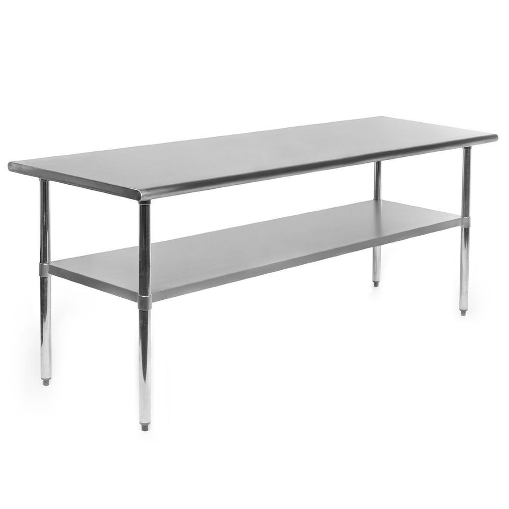 Stainless Steel Commercial Kitchen Prep Work Table Work Table Large Metal 72x30 Gridmann Commercial Kitchen Prep Kitchen Kitchen Table