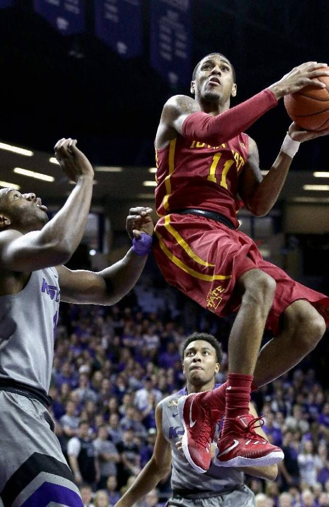 Monte Morris 11 Gets By Kansas State S D J Johnson Left To