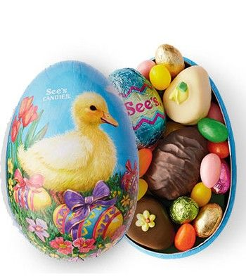 Easter treasure egg from sees candies filled with sweet surprises easter treasure egg from sees candies filled with sweet surprises this darling egg shaped gift box features an array of sees confections negle Images