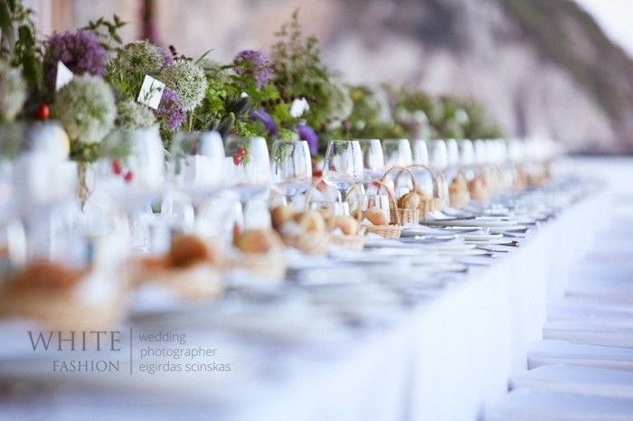 Beautiful yet simple table from Luisa and Rolando in Capri Italy
