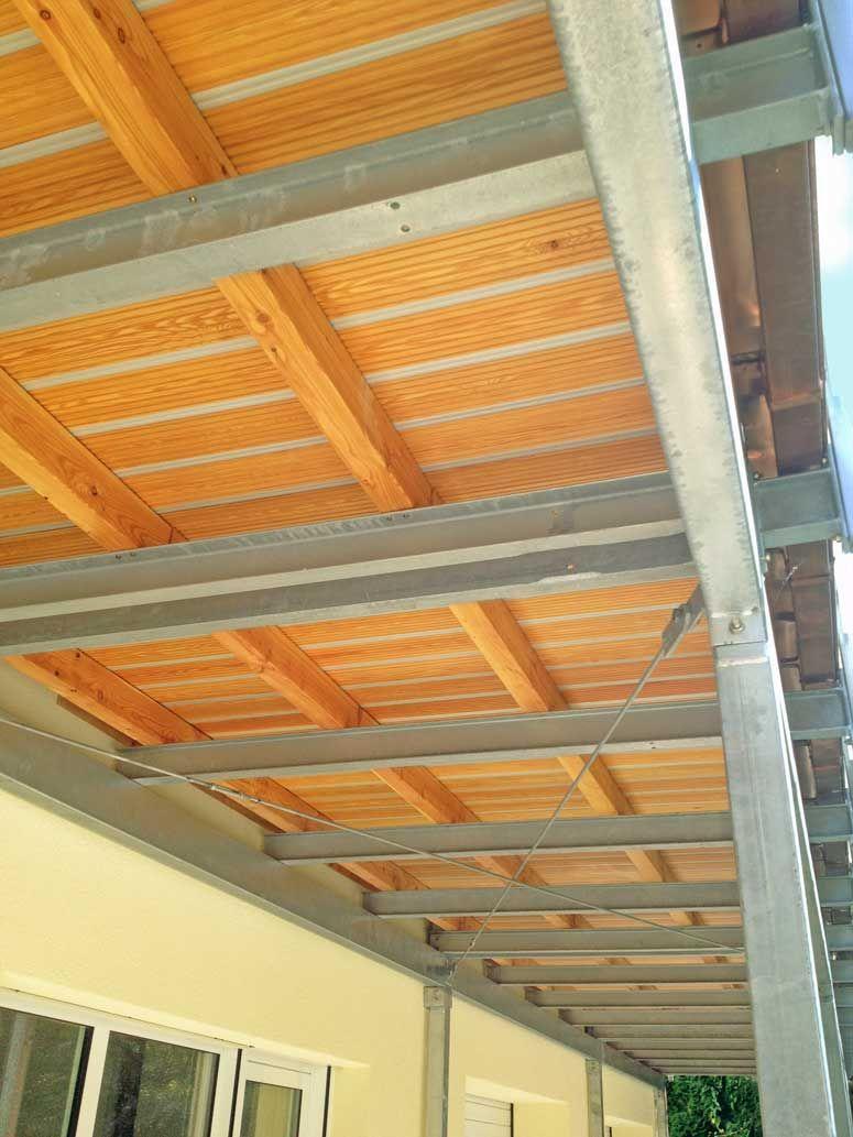 Gedrehte Unterkonstruktion Mehrfamilienhauser Terrassendach Unterkonstruktion