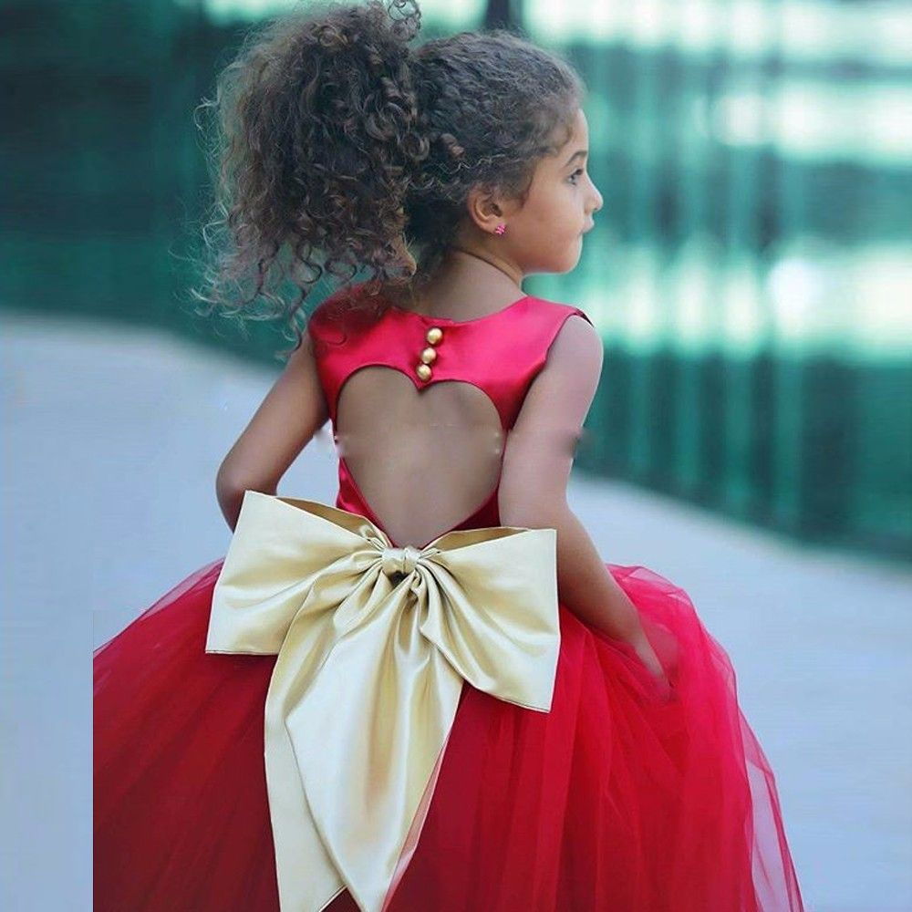 Find more flower girl dresses information about gold bow red flower find more flower girl dresses information about gold bow red flower girl dresses heart hollow african izmirmasajfo