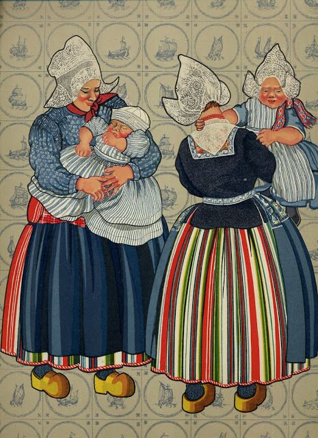 FolkCostume&Embroidery: Costume of Volendam, North Holland, The Netherlands
