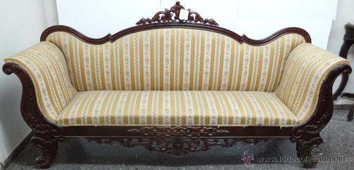 Sof de estilo isabelino del siglo xix muebles antiguos for Estilos de muebles antiguos