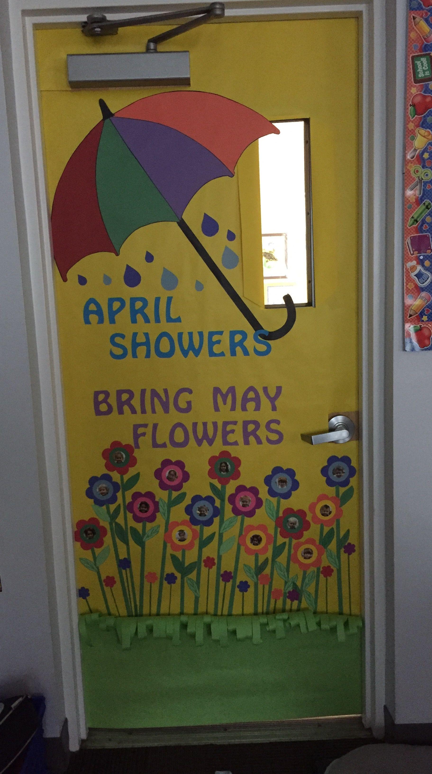 April Showers Bring May Flowers Door