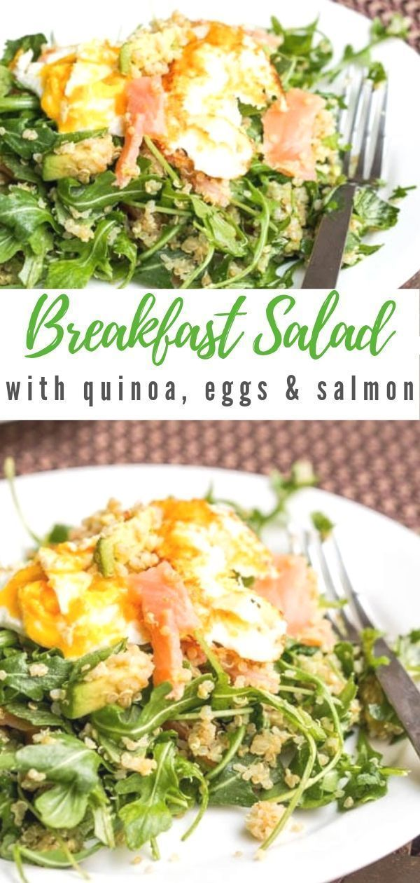 Breakfast Quinoa with Eggs and Smoked Salmon {GF, DF} Quinoa Breakfast Salad with Eggs and Smoked S