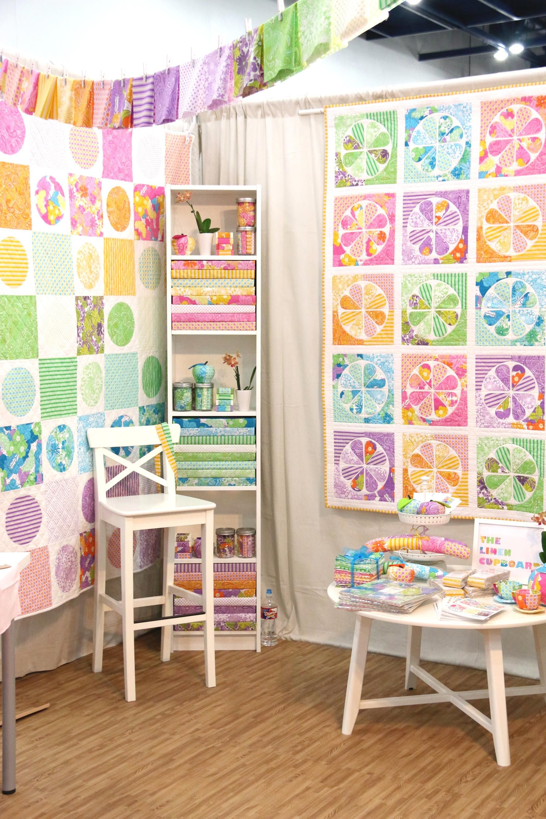 The Linen Cupboard booth at Fall Quilt Market 2014.
