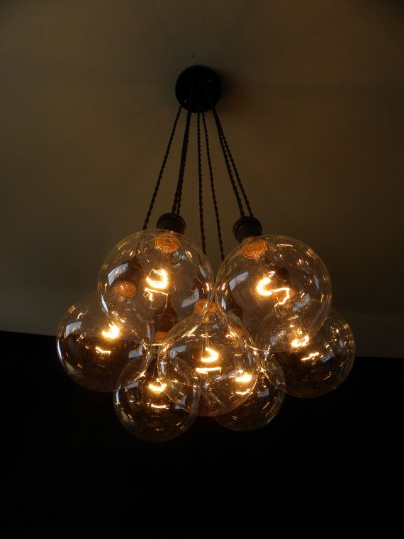 7 Cluster -Chandelier Pendant Lighting modern chandelier Cloth Cords ...