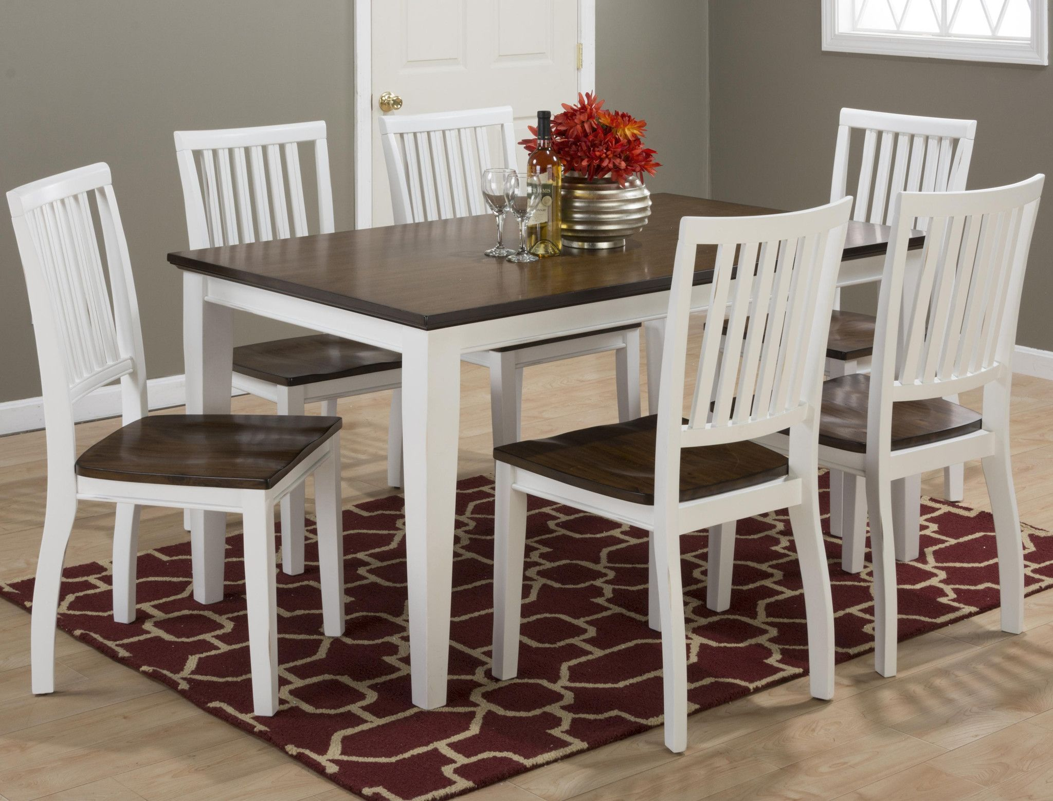 braden birch rectangular 6 person dining table and chair set