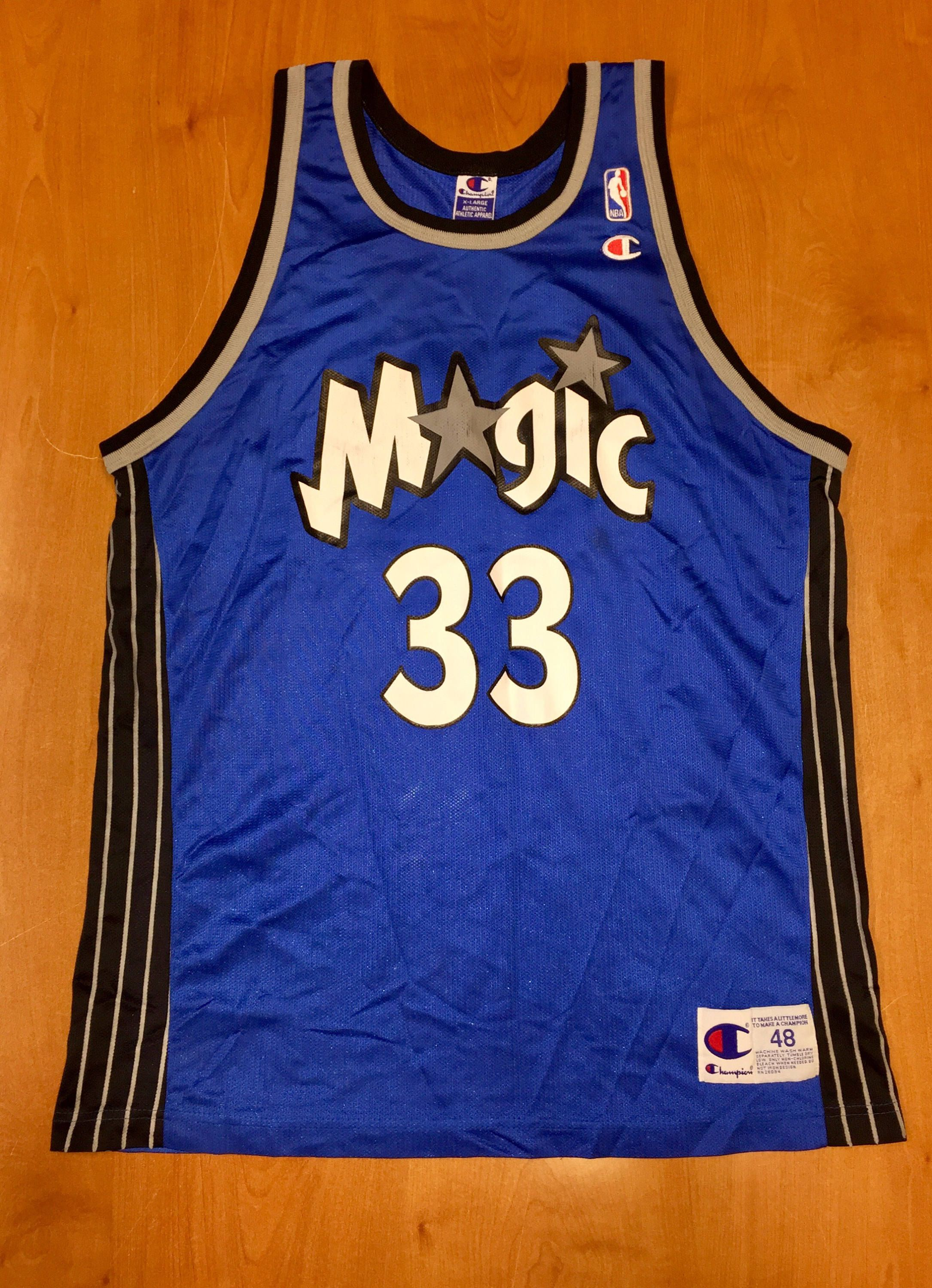 5240255c8 Vintage 1990s Grant Hill Orlando Magic Champion Jersey Size 48 penny  hardaway shaquille o neal darrell armstrong nba shirt hat pistons duke by  ...