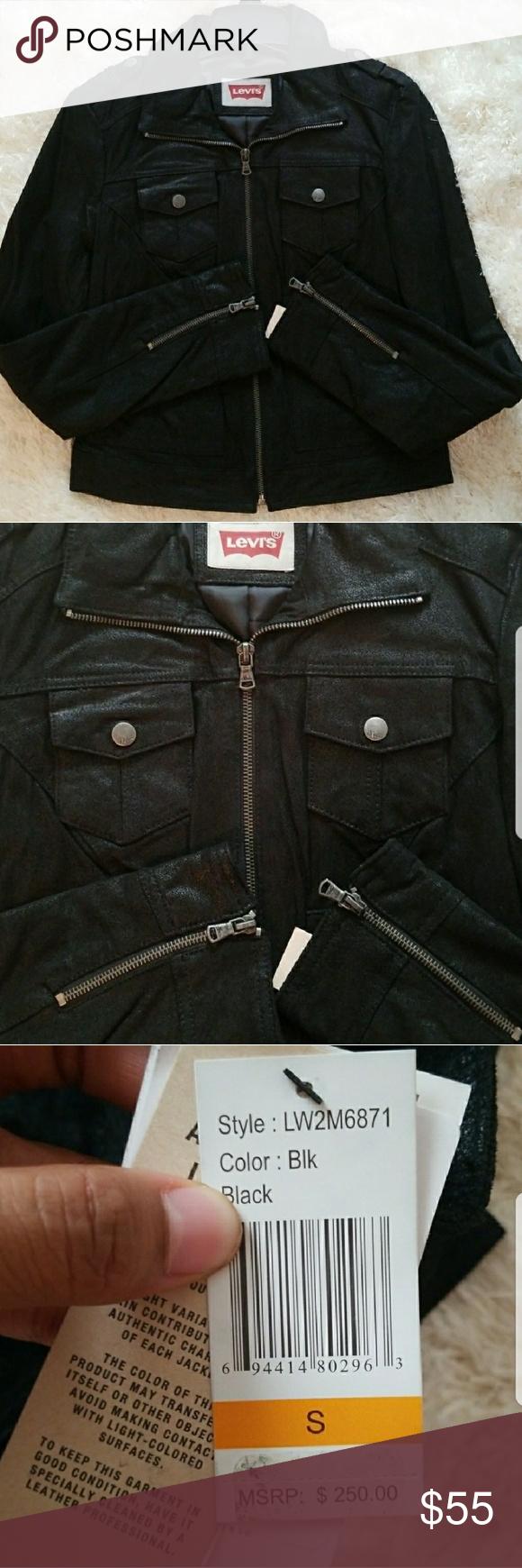 Levi's Moto leather jacket NWT Authentic leather