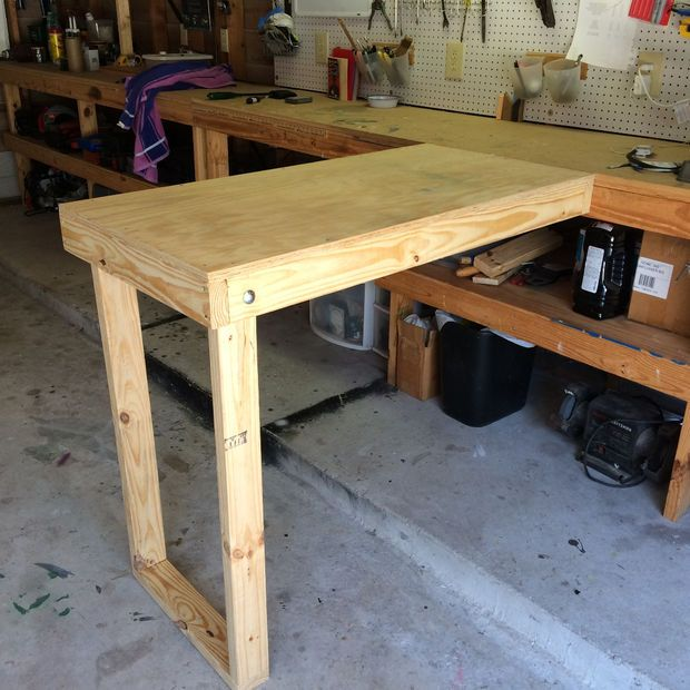 Removable Workbench Extension Workbench Designs Workbench Diy Workbench