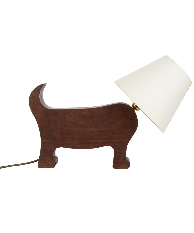 Walnut wood dog lamp and shade matt pugh shop more from the matt fabrics walnut wood dog lamp and shade aloadofball Image collections