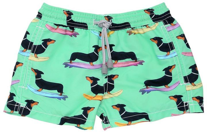 254a2f412b Dachshund Printed Nylon Swim Shorts | Dog Love | Dachshund, Swim ...