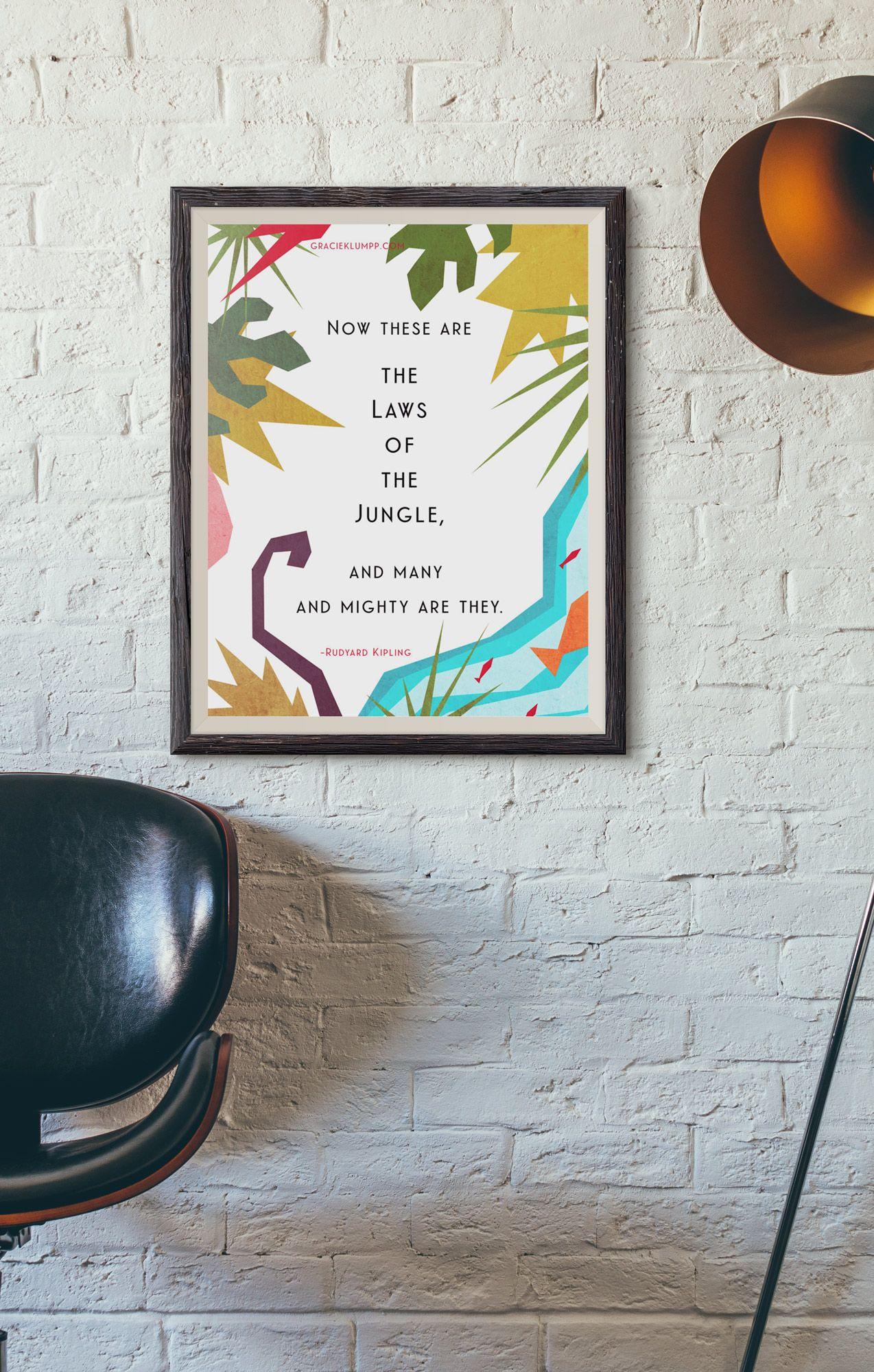 Jungle Book Quotes Laws Of The Jungle  Free Printable Rudyard Kipling Jungle Book
