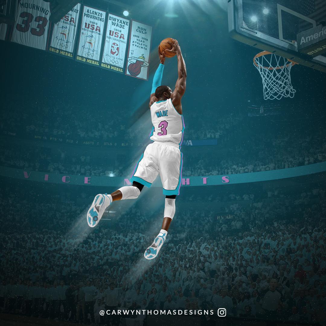 Dwyane Wade Vice Nights Alternate Nba Miami Heat Miami Heat Basketball Dwyane Wade