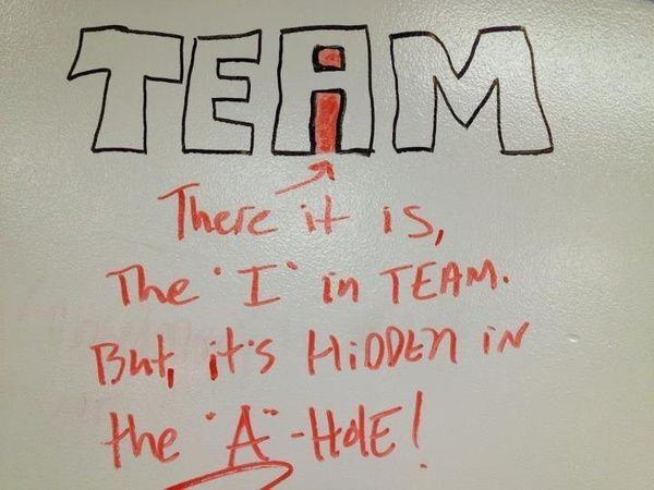 """Wow....never even knew this. It ought to be interesting the next time I hear someone day """"There is not I in TEAM"""" ;)"""