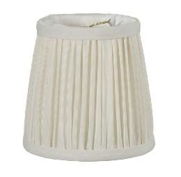 Eggshell Shantung Silk Shirr Pleated Mini Shade | Antique Lamp Supply