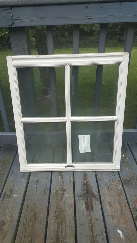 Old Wood Window Frame 4 Pane Building Supply Architectural Salvage Replacement Window Frame Insulated Windows Farmhouse Home Decor 9 Wood Windows Rustic Farmhouse Decor Rustic French Country