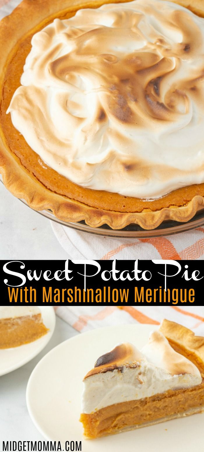 Sweet Potato Pie Recipe with Marshmallow Meringue