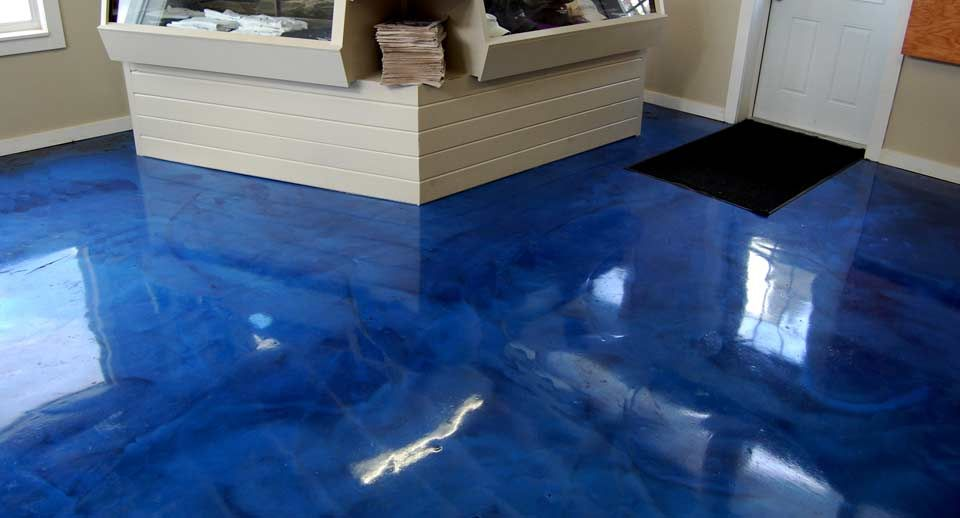 Flooring Blue Patterned Epoxy Best Garage Floor Coating With