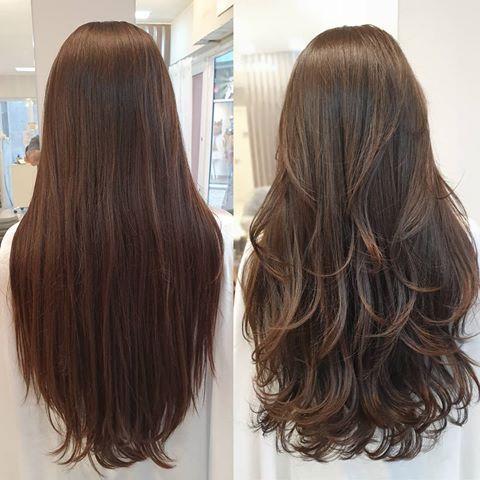 """KADU CESÁRIO on Instagram: """"Essa cliente vem cortando comigo com frequência. Antigamente ela falava que seu cabelo não crescia. EU DISSE, NÃO CRESCE PQ VOCÊ NUNCA…"""" #longlayeredhaircuts #longlayeredhaircuts"""