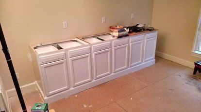 Built in Bookcase Hack Using Kitchen Cabinets and ...