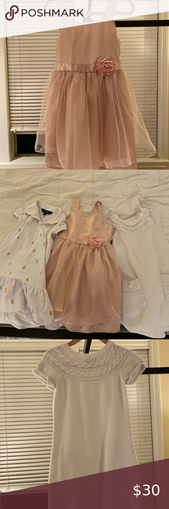 Bundle Of 3 Dresses For Girls 4t Bundle Of Three Dresses For 4t Little Girls Baby Gap White Knit Dress Carter S F White Knit Dress Girls Dresses Dresses [ 1740 x 580 Pixel ]