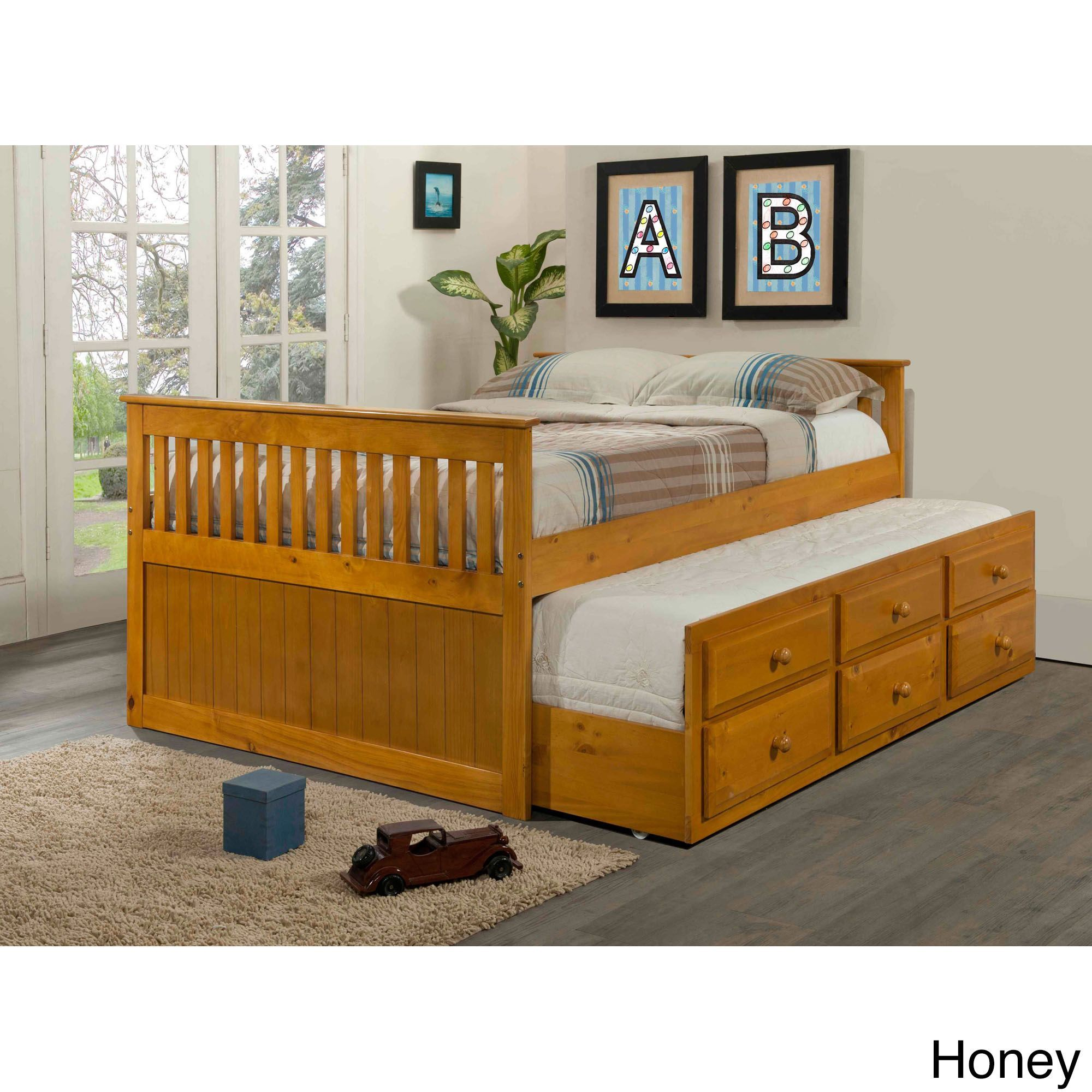 Best Donco Kids Mission Captains Full Bed With Twin Trundle 400 x 300