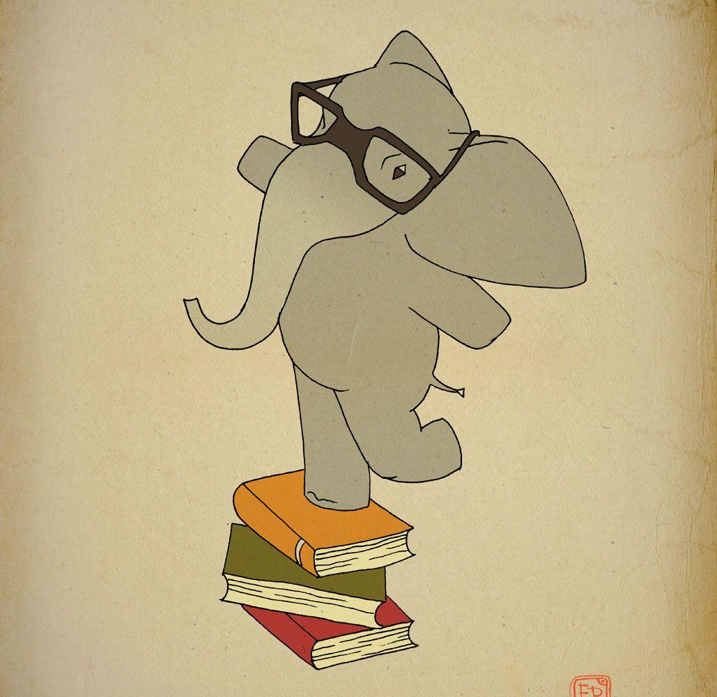 Elephant Archival Art Print 12x16 nursery poster children room ...