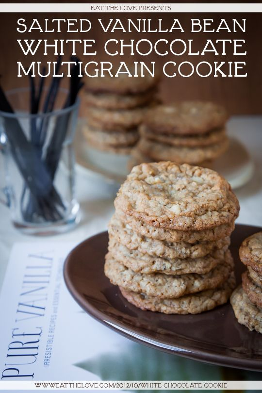 Salted Vanilla Bean White Chocolate Multigrain Cookie #Recipe by Irvin Lin of Eat the Love