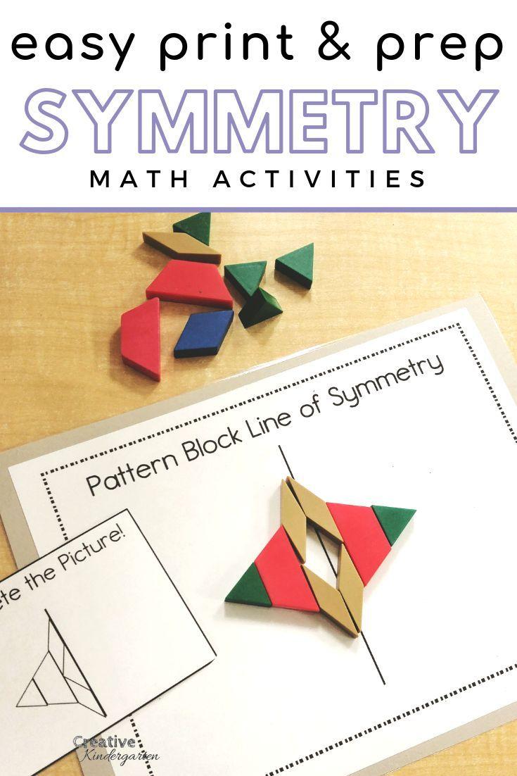 Easy Print and Prep Kindergarten Math Centers: Symmetry -   19 simple crafts kindergarten ideas