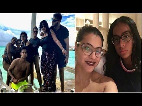 Actor Ajay Devgan Family Photos With Wife Kajol Daughter Nysa Son