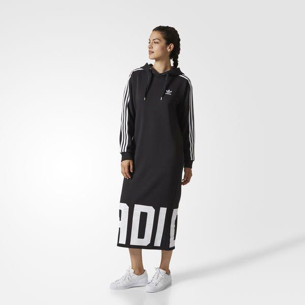 Bold Age Hoodie Jurk Black CY7481 | Hoodie, Mode, Adidas
