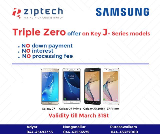 Triple Zero offer on Samsung J-series Model @ Ziptech Enterprises - valid contract essential elements