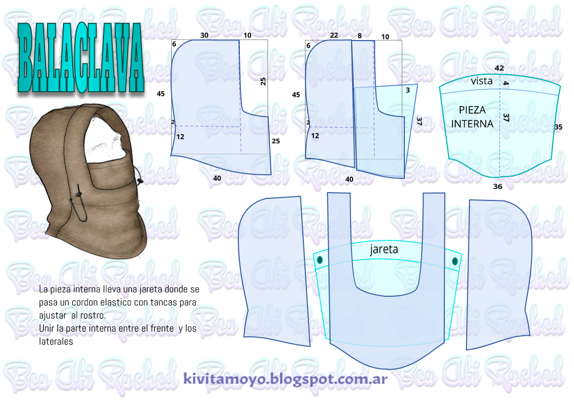 Blog de patronaje y diseño | gorros bebes | Pinterest